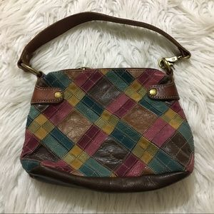 Fossil Multicolor Pathwork Leather Purse